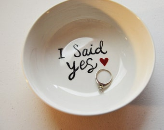 engagement ring dish etsy