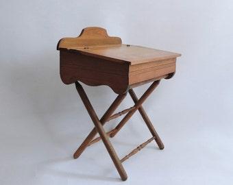 Half Price SALE 19th Century Folding Campaign Desk. Eastlake Writing Desk.