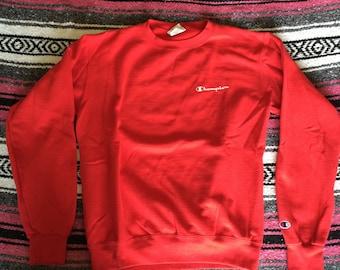 Vintage Champion Brand Red Sweatshirt