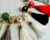 Silk Tassel  Charm, Luxury Tassels 10mm/ 4 inches, Jewelry Making Tassels,  Handmade Tassels