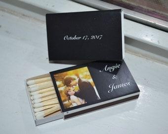 50 Photograph/Name Matchbox Wedding Favors