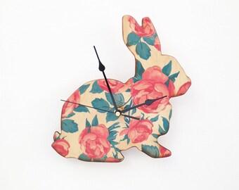 Rose Bunny Clock