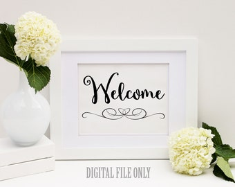 Printable Welcome Sign, Wedding Signs & Wedding signs to print 8x10
