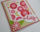Hello There Flower Greeting Card, Blank, Friendship Card, Thinking of You, Encouragement, Miss You, Just Because