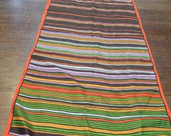 ECHO scarf - vintage- stripes - silk - long