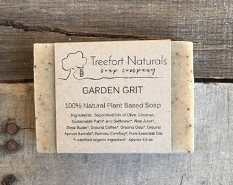 Garden Grit Soap - Handmade Cold Process, All Natural, vegan, essential oils, exfoliating soap, kitchen soap, gardener's soap
