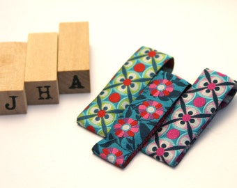 Everyday/ Children hair clip - Woven ribbon lined clips