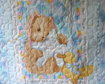 Quilt - Quilted Baby Blanket - Baby Quilt - Gender Neutral Baby Quilt for Boy or Girl - Twinkle Twinkle Little Star