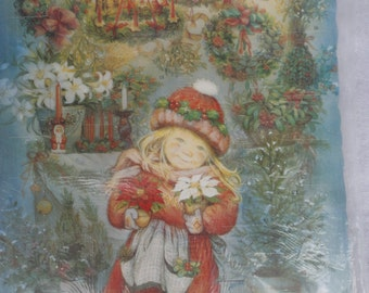 Vintage Unused in Original Packaging Pictura Advent Calendar Printed in Germany, Advent Calendar, Little Girls Advent Calendar, Christmas