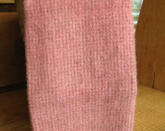 """Hand Dyed Wool Fabric - Peach Pink  9"""" x 10"""" - Applique Wool Fabric"""