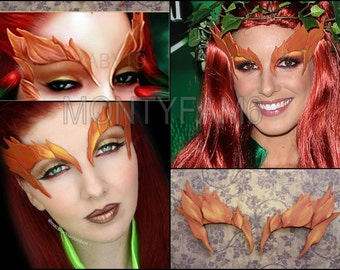 Poison Ivy AUTUMN Leaves Eyebrow Costume Cosplay COmic COn Mask Uma Thurman ELF Mother Earth
