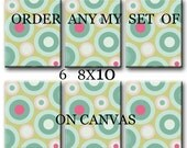 Order any of my Print on canvas set of 6 8X10 Gallery Wrapped Baby Nursery Decor Kids Art Kids Wall Art Nursery Art Print on canvas Baby Art