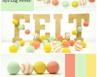 Felt Balls // DIY Garland // DIY Mobile // Swirl Balls // Spring Fever Felt Ball Mixed Set // 24 balls // Size 2.5cm