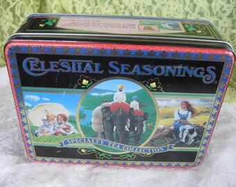 1989 Celestial Seasoning Tea Collection  Tin Near Mint Tea collector afficiando gift