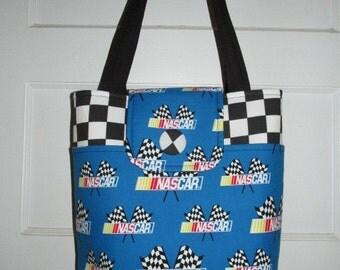Lots of Pockets Nascar Handbag - Ready To Ship!