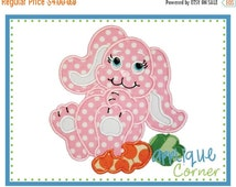 ON SALE INSTANT Download Bunny Carrot for Easter applique design in digital format for embroidery machine by Applique Corner