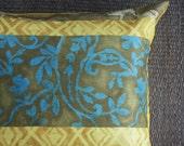 Turquoise Floor Pillow Cover, Pet Bed, 26x26 Floor Pillow. Batik Pillow Cover. Indoor Outdoor. Anthropologie. Euro Sham.