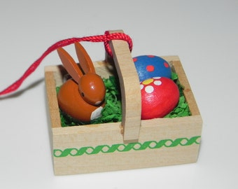 Handmade Wood Miniature Rabbit Easter Spring Ornament Christian Ulbricht Collectible Wood Germany