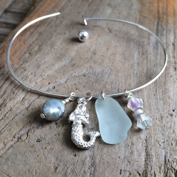 Sea Glass Bracelet Cape Cod Bracelet Genuine By