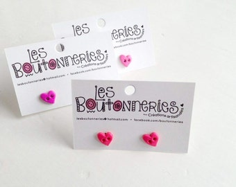 Earrings to buttons - girlys - hearth
