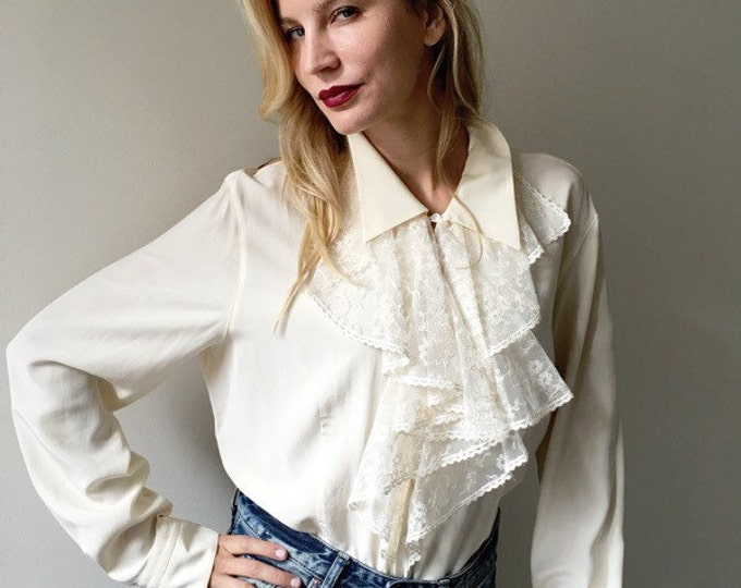 Vintage Silk Ascot Blouse