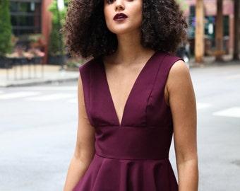 Violet Fit and Flare Dress (Violet Dress)