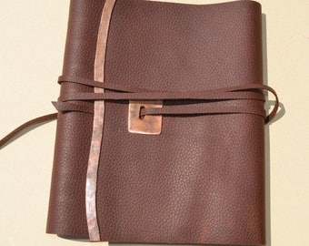 Custom Handmade Leather Planner Cover (96G8B)