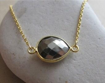 SALE Pyrite Bracelets- Pyrite Gold Bracelets- Gold Stone Bracelets- Stone Bracelets- Gold Bracelets- Gemstone Bracelets- Silver Stone Bracel