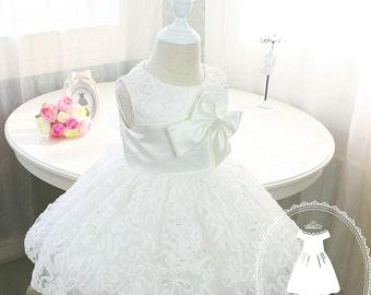 Baby Girl Dress for Wedding,Newborn Party Dress, Flower Girl Dress Tulle,  PD001-2