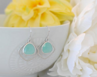 The Kellie Earrings -  Mint/Silver