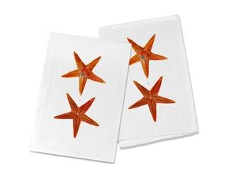 100% Egyptian Cotton Flour Sack Kitchen Dish Towel Vintage Starfish (one towel)