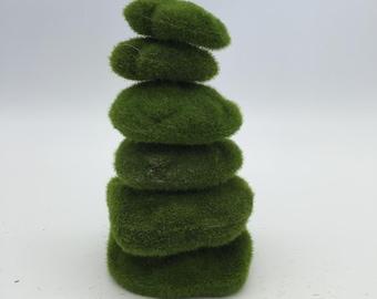 Artificial Turf Moss Stones Pebbles Rocks Foam Terrarium Fairy Garden Supply