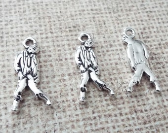 3 Pieces Walking Dead Zombie Charms, Walker Charms, Jewelry Charms, Jewelry Supplies