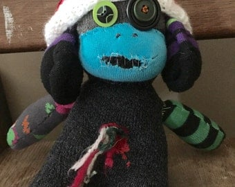 Sock Zombie with hat