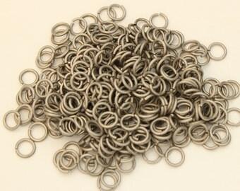 18 swg 13/64'' jump rings  pure titanium saw cut AR 4.8