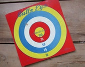 Children's Toy Target Vintage Tin Sign Play Ball Metal Bullseye