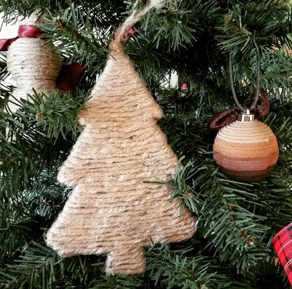 Christmas Ornament, Jute Rope Christmas Tree