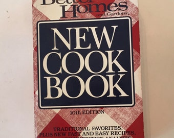Better Homes NEW COOKBOOK / Vintage Better Homes and Gardens New Cookbook Classic Paperback Red & White 10th Edition 1989
