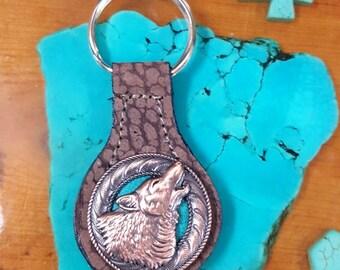 Howling Wolf Key Fob