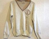 Vintage Pisces Cliff Engle Pullover V Neck Sweater