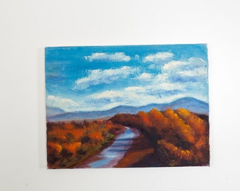 Fall Landscape by the River Painting