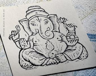 Ganesha: stamp (4x4 cm)