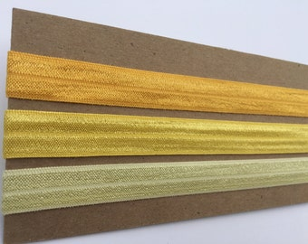 Yellow ombre adult/child elastic headband set