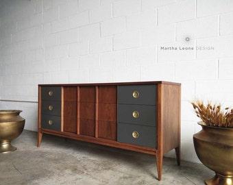 SAMPLE: 9 Drawer Mid Century Dresser