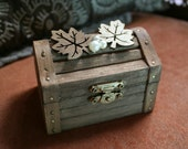 Rustic Wedding Treasure Chest Wood Ring Bearer Box - For Rustic Theme Weddings - Handmade