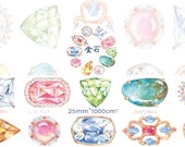 1 Roll of Limited Edition Washi Tape: Fancy Diamond