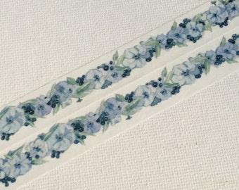 1 Roll of Limited Edition Washi Tape: Blue Borago