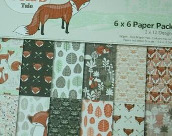A Set of 24 Sheets Decorative Paper Packs- Fox