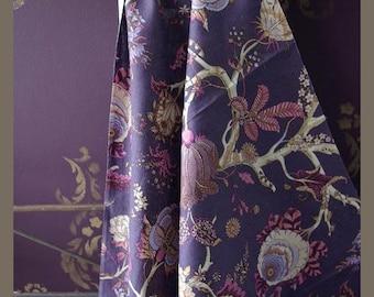 Toile de jouy purple modern  chic 150 cm L