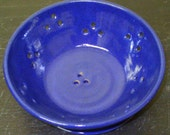 Footed Berry Bowl in Cobalt Blue Glaze....